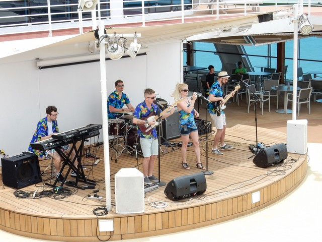 Adonia Live Band Plays at the Pool