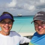 Jill and Viv at Half Moon Cay with Holland America Line
