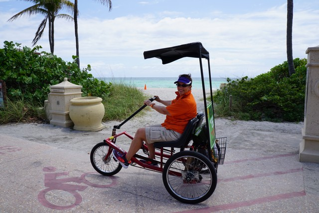 WAVEJourney Takes a Side by Side Duallie for a spin courtesy of Hollywood Beach Trikkes