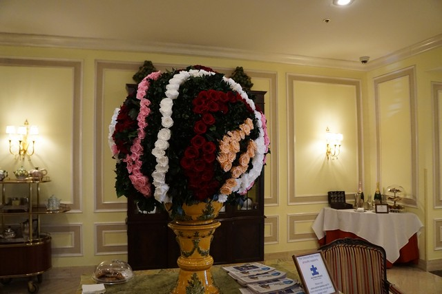 Gorgeous Flower Arrangements in the Lobby at Chesterfield Palm Beach
