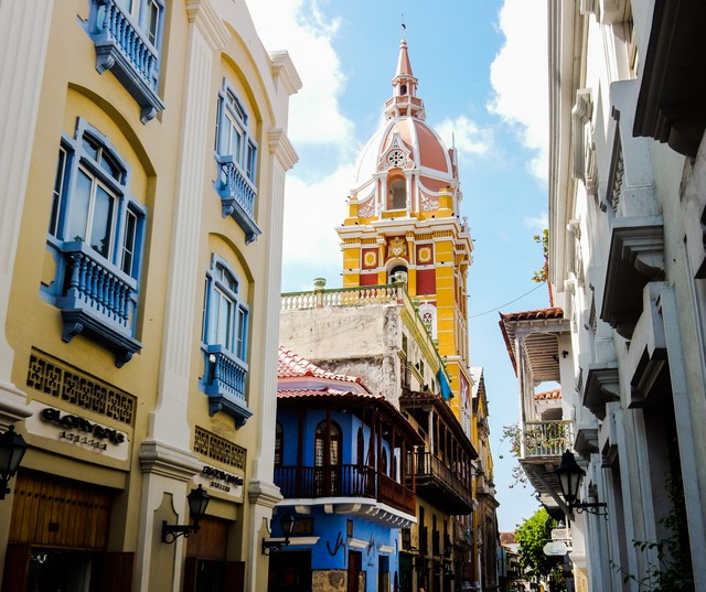 Old Town Cartagena in Columbia