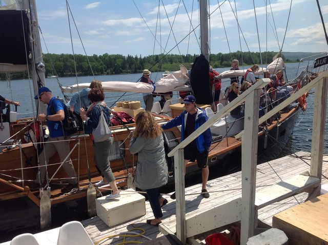 Cape Breton - Baddeck - boarding the Amoeba schooner