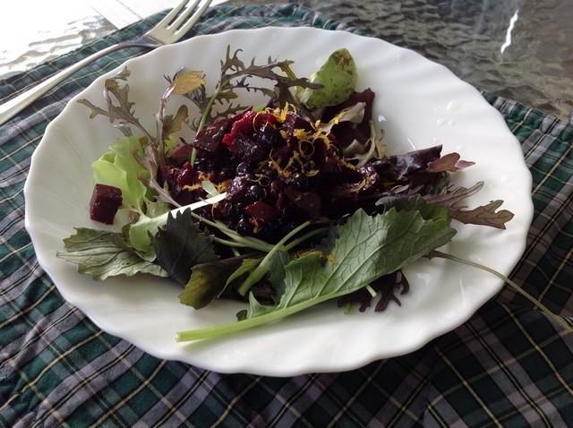Cape Breton - Chanterelle Inn Blueberry and Beet Salad
