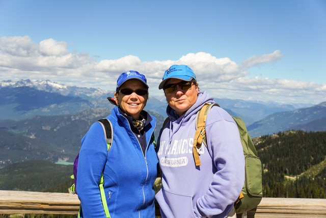 September 2016 Travel Tips and Tales Newsletter - Jill and Viv at Whistler, BC.