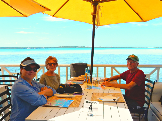 Best Casual Meal - Harry O's at Harbour Island in the Bahamas.