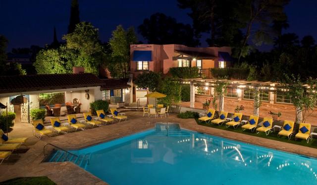 Arizona Inn pool at night