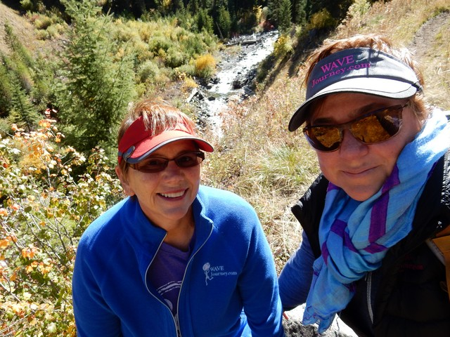 Jill and Viv take a hike at Eagle Cap Wildnerness