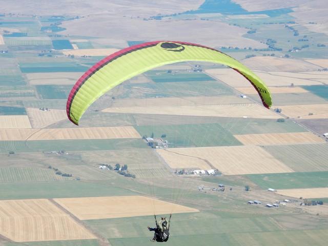 Paragliding off Mount Howard