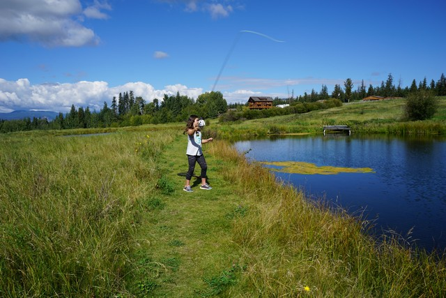 Jada Learns to Fly Fish at Echo Valley Ranch