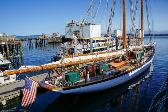 Schooner Zodiac at her Bellingham, Washington homeport.