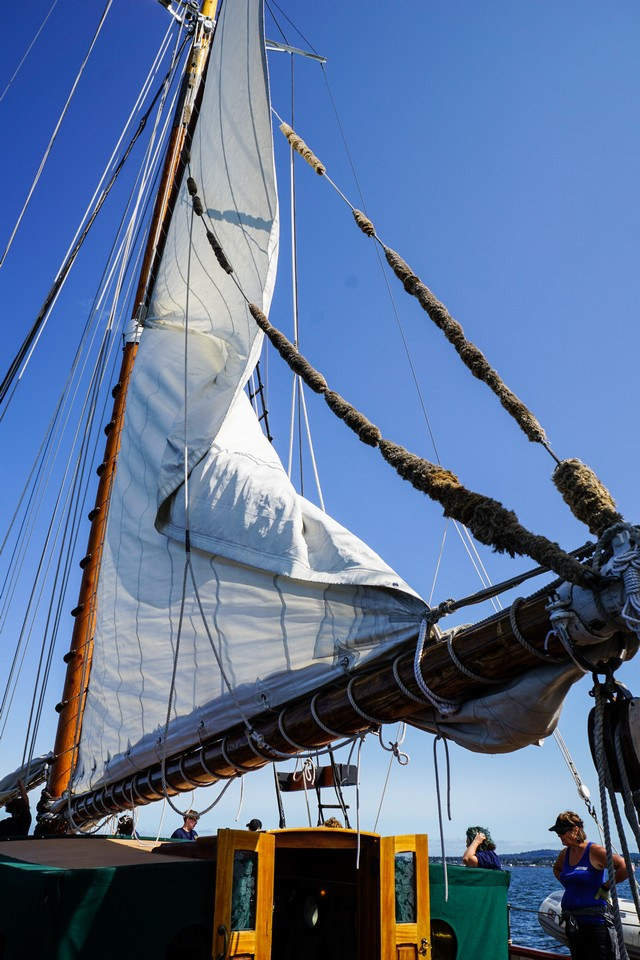 Schooner Zodiac has 7,000 sq. ft. of sails.