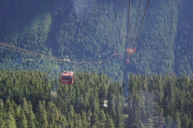 Peak 2 Peak Gondola between Whistler and Blackcomb