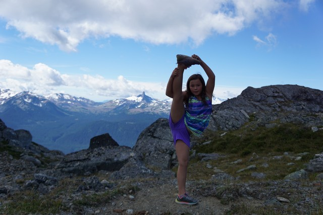 Jada strikes a pose over Black Tusk