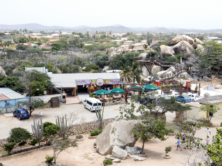 Restaurant and bar at Casibari Rock Formations on Aruba