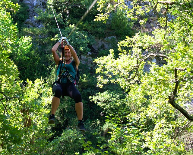 High Ropes Tyrolean