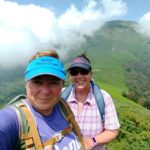 Viv and Jill hiking in Ariege Pyrennes