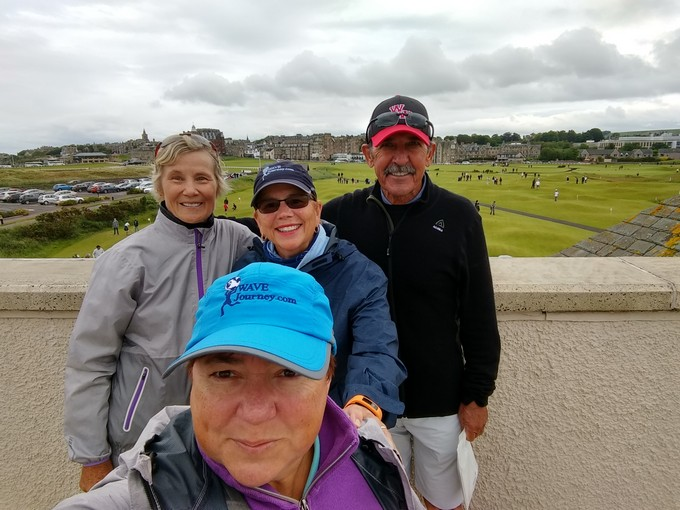 Having fun in St. Andrews, Scotland