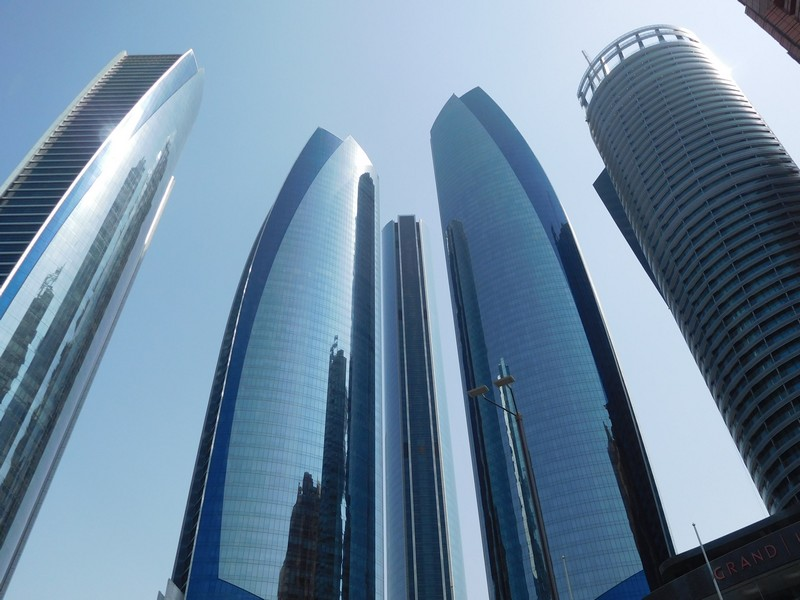 Abu Dhabi Skyline with Etihad Towers