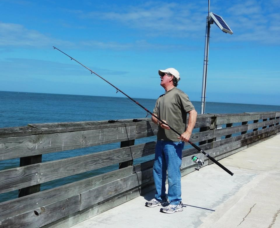 Fishing on Pier at Ft. Clinch State Park
