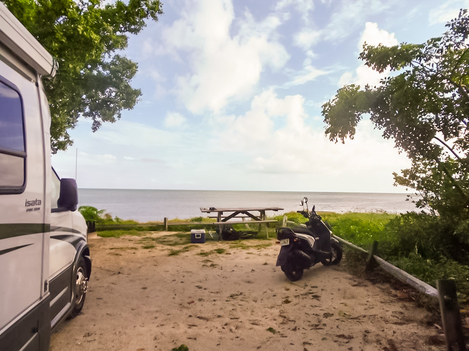 Long Beach State Park campsite