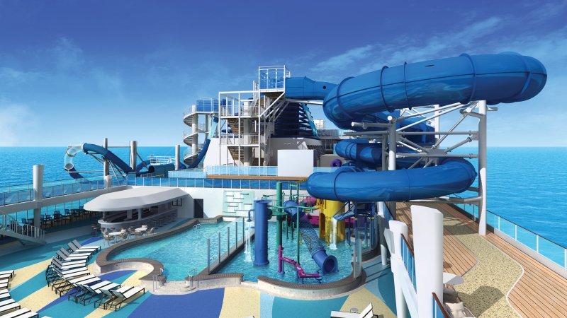 Norwegian Bliss Architectural Rendering - Aqua Park