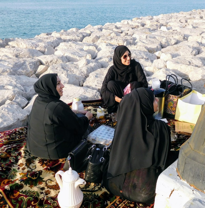 Picnic at waterfront in Abu Dhabi