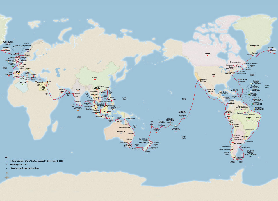 Cruise News: Viking Announces 245-Day World Cruise Itinerary
