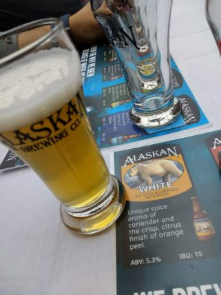 Alaskan White - a wit style ale brewed with spices.