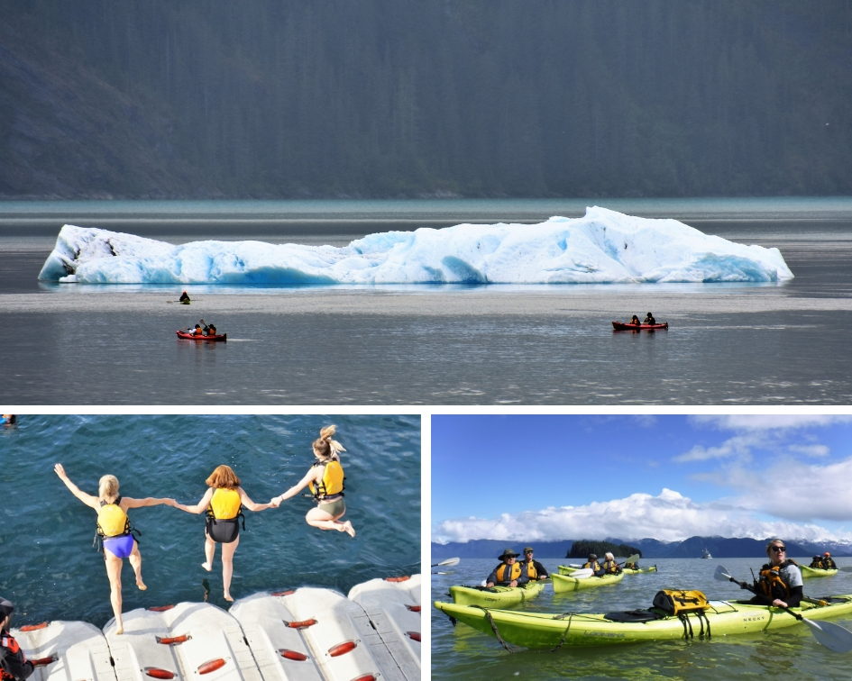 UnCruise Adventures Kayaking and Polar Plunge in Alaska