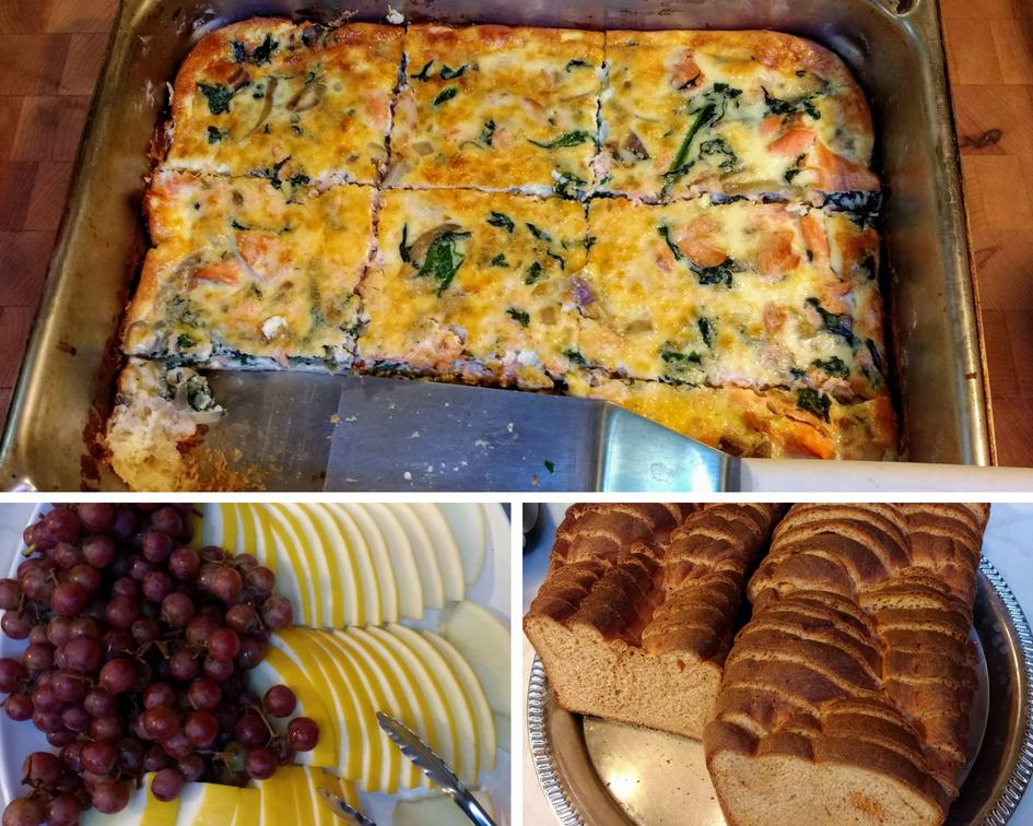 Breakfast - Salmon and Spinach Quiche