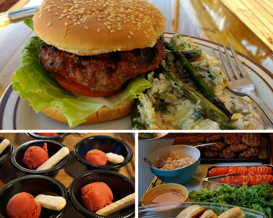 Dinner - Burgers and Sorbet