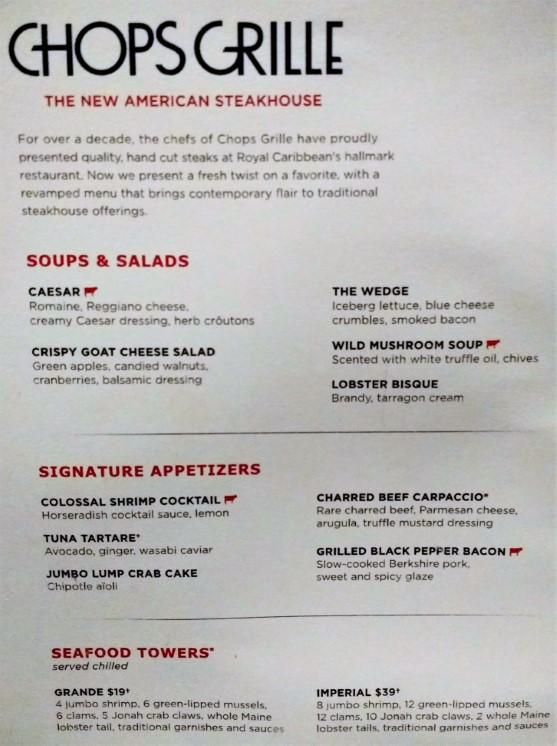 Chops Grille Menu - Soups, Salads & Appetizers