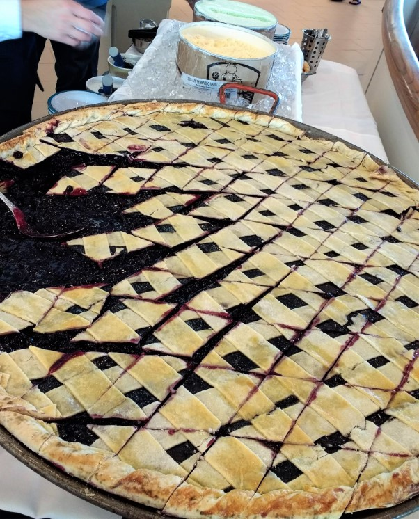 Giant Blueberry Pie