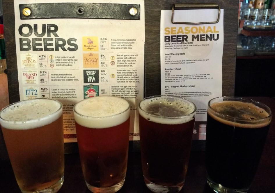 Beer flight at The Gahan House