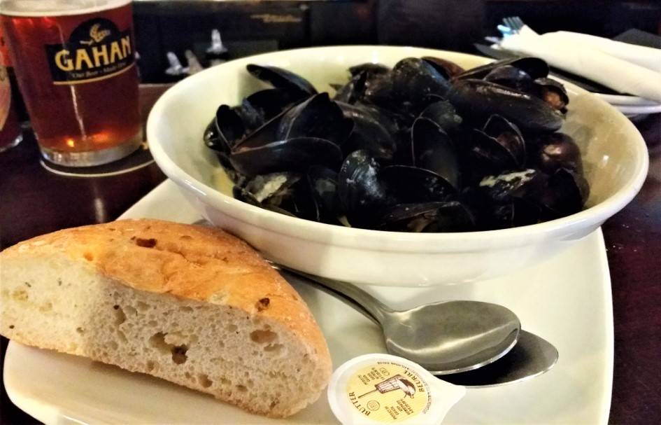 PEI mussels at The Gahan House in Charlottetown, PEI