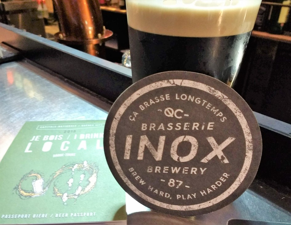 Pint of stout at Brasserie Inox Brewing