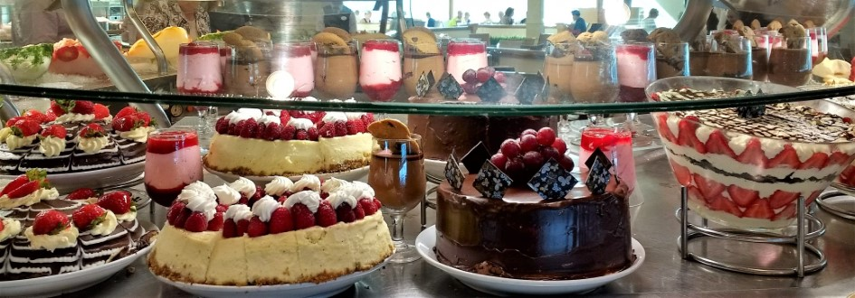Scrumptious desserts on Adventure of the Seas