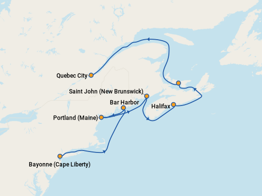 Adventure of the Seas Canada & New England Cruise