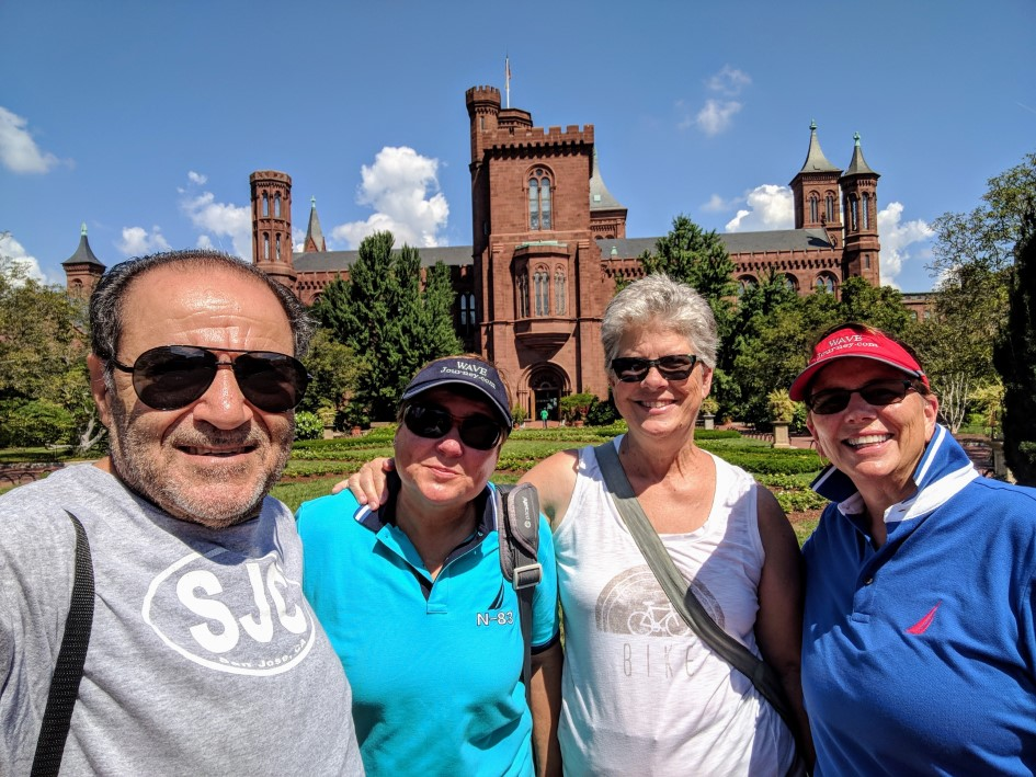 Exploring Washington, DC with friends