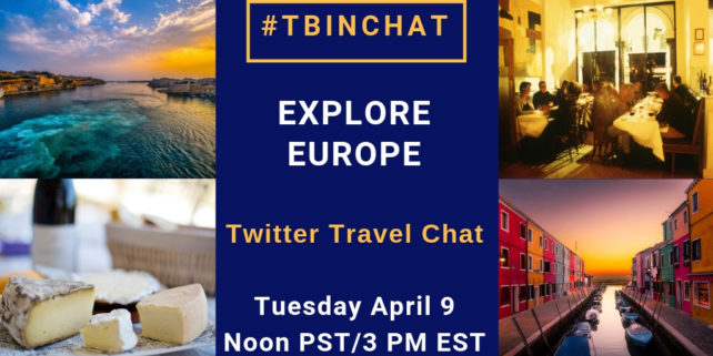 April 2019 Explore Europe #TBINchat