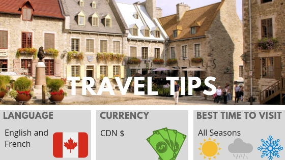 QUEBEC CITY TRAVEL TIPS