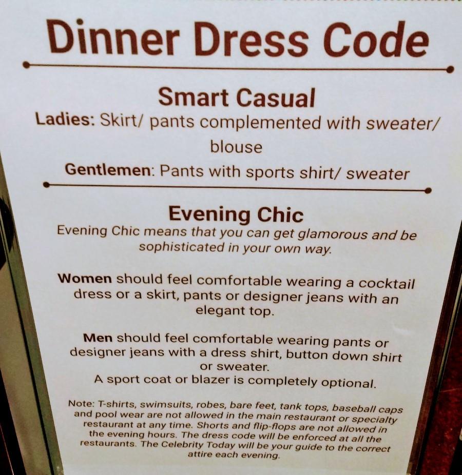Celebrity Silhouette Dinner Dress Code 2019