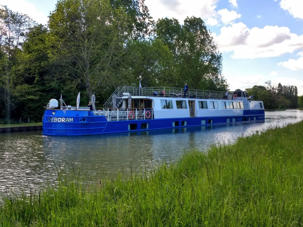 Deborah moored in a serene canal location