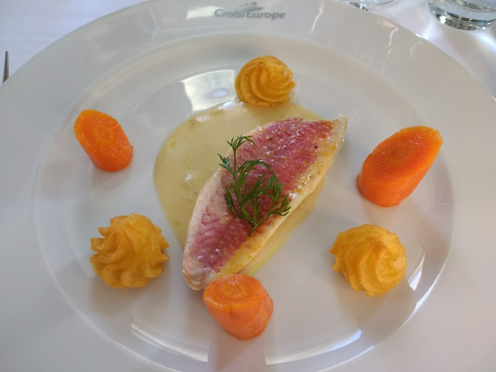 Filet of Red Mullet Fish Dinner Entree