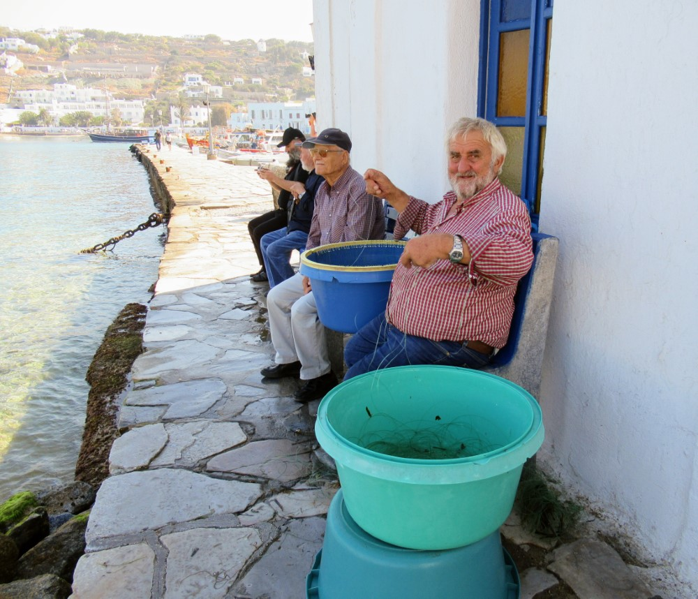 Fishermen in Mykonos