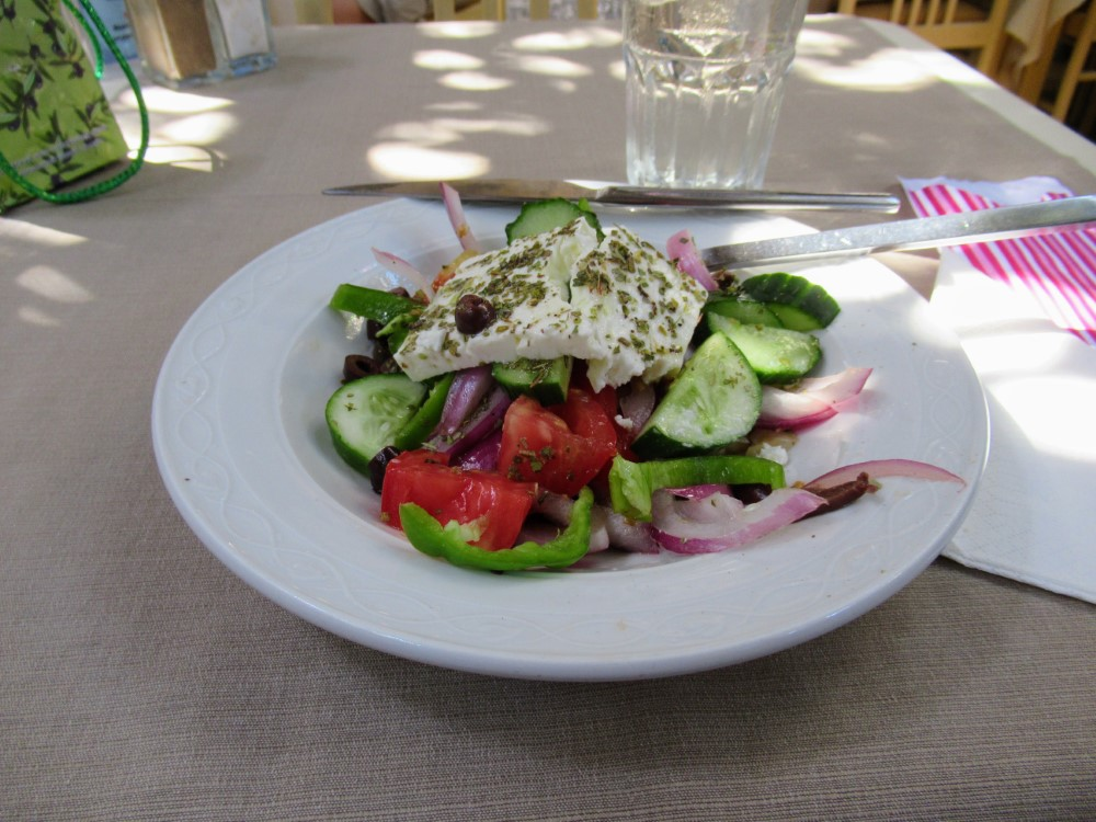 Greek Salad in Rhodes